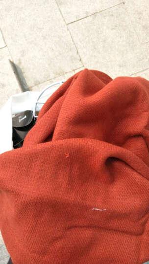 Vero Moda秋装针织双色流苏超大围巾女|316388512 064波米橙 均码 晒单图