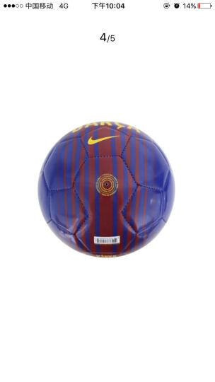 NIKE耐克 一号小足球基础训练儿童用球 纪念足球 SC3265-495切尔西配色 晒单图