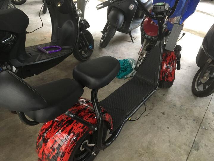 佐冠哈雷电动车成人宽胎电瓶车锂电滑板车电动自行车X11铝合金轮毂电动摩托车 铝轮12A双组电池匀速续航60-80公里 晒单图