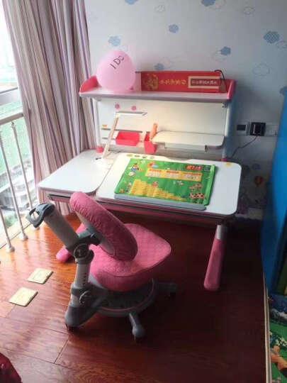 智学库儿童课桌 可升降桌椅 进口橡胶木全实木书桌 写字桌椅 儿童学习桌 学生桌 书桌儿童 ZZ-116+ZY-06粉色 晒单图