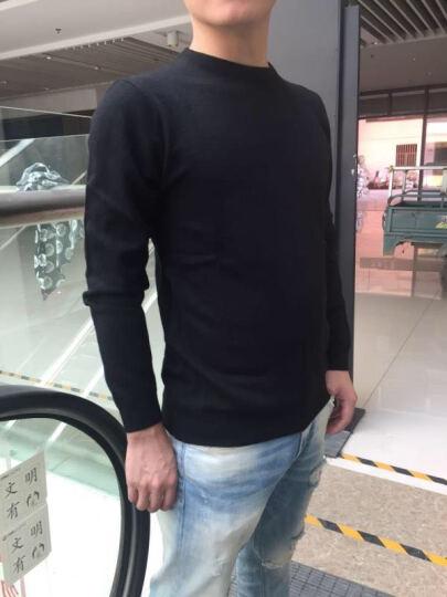 恒源祥针织衫男圆领高领中青年纯色秋冬款毛衣打底衫16182706 兰色 175/115 晒单图