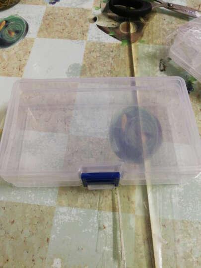 暖烘烘 长方形透明塑料样品盒 水钻零配件盒收纳盒 实验展示盒小塑料盒子  2个装 4号  14.2*7.7*3.5cm 晒单图