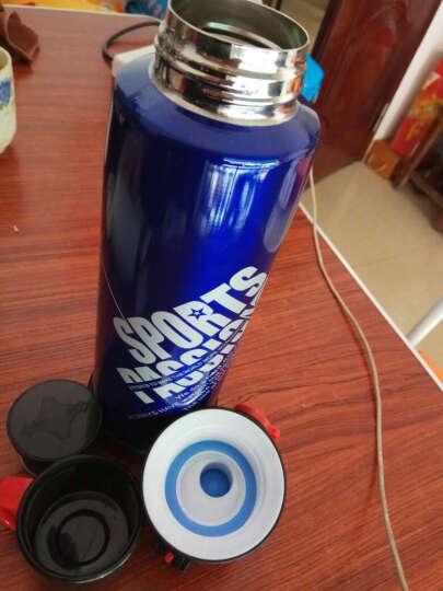 苏兹 车载不锈钢保温杯大容量水瓶旅行便携健身自行车户外运动水壶 深蓝色 晒单图