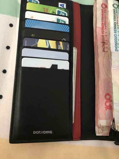 Dior 迪奥 男士黑底灰色字母图案涂层帆布长款钱包钱夹 2DEBC002XIS 02GU 晒单图