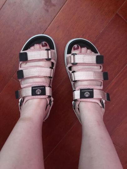 韩国纸飞机paperplanes男女休闲凉鞋夏季魔术贴情侣沙滩鞋学生三个带子热卖拖鞋PP1432 粉色 A5(39-40) 晒单图