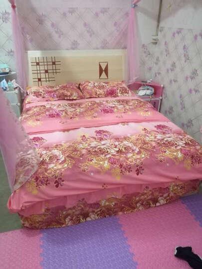 雅巢家纺 韩版四件套公主花边床裙式床罩婚庆床上用品1.5m1.8米床 富贵花开 1.5米床(被套200*230cm)四件套 晒单图