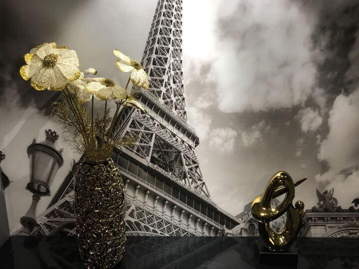 正想 玫瑰 陶瓷花瓶家居创意装饰品摆件工艺品仿真花艺套装欧式现代客厅玄关摆设酒柜结婚庆礼品 浑圆玫瑰花瓶 金银色2合1(赠送各色龙须草各3支) 晒单图