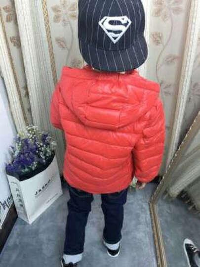 小灰鸭(XIAOHUIYA) 2017冬季新款儿童轻薄款羽绒服男女童棉衣宝宝可脱帽冬装 粉红色 130 晒单图