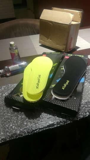 特步男女通用运动鞋垫2017秋季新品吸汗防臭透气减震舒适柔软鞋垫 萤光绿 40 晒单图