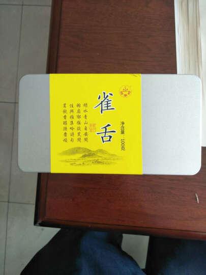 2018新茶雀舌绿茶100g 明前春茶湖北丝茅岭英山云雾茶叶包邮 晒单图