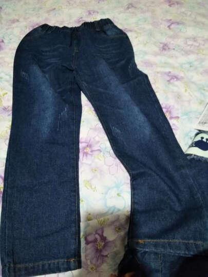 榴芒贝贝品牌童装男童套装2018秋装新款小学生长袖牛仔套装大童小孩衣服儿童运动上衣牛仔裤两件套 两件套加绒加厚冬款 150码 建议身高140厘米左右 晒单图