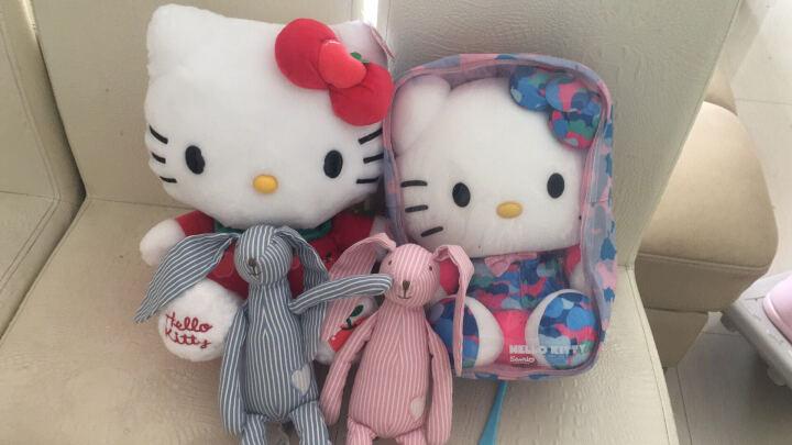 "Hello kitty凯蒂猫 迷彩系列毛绒玩具 软体粒子公仔玩偶 抱枕靠垫布娃娃 13""33 玫红 晒单图"