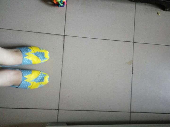 汤姆斯Tt&Mm新款帆布鞋女韩版学生女一脚蹬女生懒人鞋乐福鞋渔夫鞋玛丽鞋TM561125W 浅蓝 35 晒单图