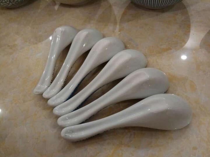 舍里 日式和风创意陶瓷盘子 圆盘平盘调味碟 点心盘水果盘餐盘凉菜盘 冰裂纹6寸中盘(16.5cm) 晒单图