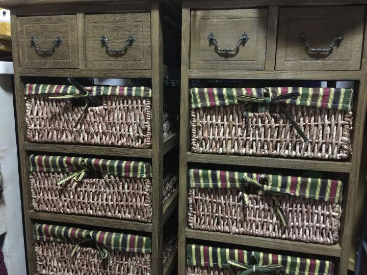 妙意轩 田园抽屉柜白色宜家实木床头收纳柜简约储物柜 白色四层C款 晒单图