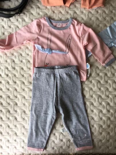 南极人(Nanjiren) 南极人婴儿空气棉马甲夹棉背心宝宝春季装保暖衣服 提花小熊-浅粉 100CM 晒单图