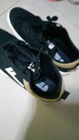 回力男鞋韩版低帮系带帆布鞋男春季新款透气休闲男鞋 经典款黑色 40 晒单图