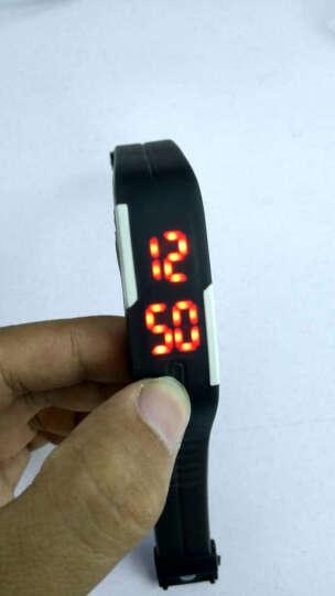 威龙( wilon)手表男士女表儿童手表运动手环学生夜光国产电子表 薄荷绿红灯 晒单图