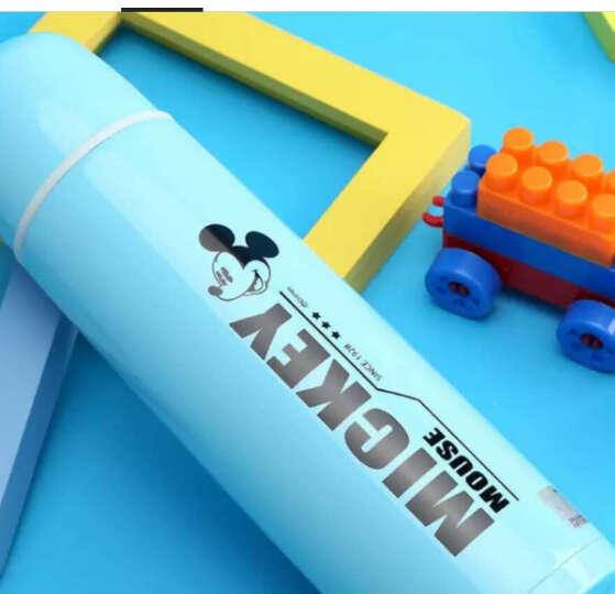 迪士尼(Disney)保温杯儿童水杯真空学生保温水壶 送潜水杯套 500ML MD-3050 米奇蓝色 晒单图