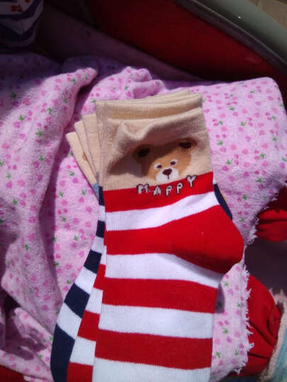 Mawcha 童袜儿童袜子男童中筒棉袜宝宝四季5双装可爱舒适 女童款式颜色随机混色5双 16-18cm(建议4-6岁) 晒单图