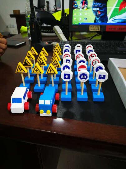 乐婴坊(lionf) 乐婴坊儿童交通指示牌标识玩具标示学习教具认知教育用品儿童礼品 彩盒装 晒单图
