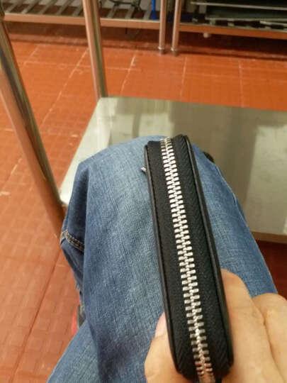 高尔夫GOLF新款卡包头层牛皮男士卡片包13卡位风琴式银行卡包 男商务名片包夹 黑色13卡位 晒单图