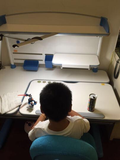 智学库儿童课桌 可升降桌椅 进口橡胶木全实木书桌 写字桌椅 儿童学习桌 学生桌 书桌儿童 飞行家橡胶木桌1.2米+扶手双背椅06(蓝莓蓝) 晒单图