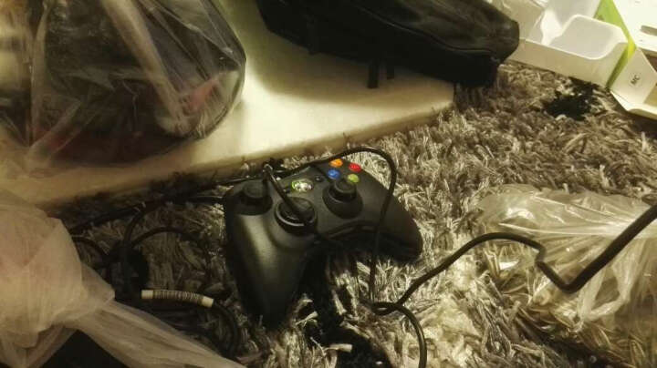 DFyou 微软Microsoft XBOX360游戏手柄支持PC电脑USB振动有线手柄 黑色 有线 晒单图
