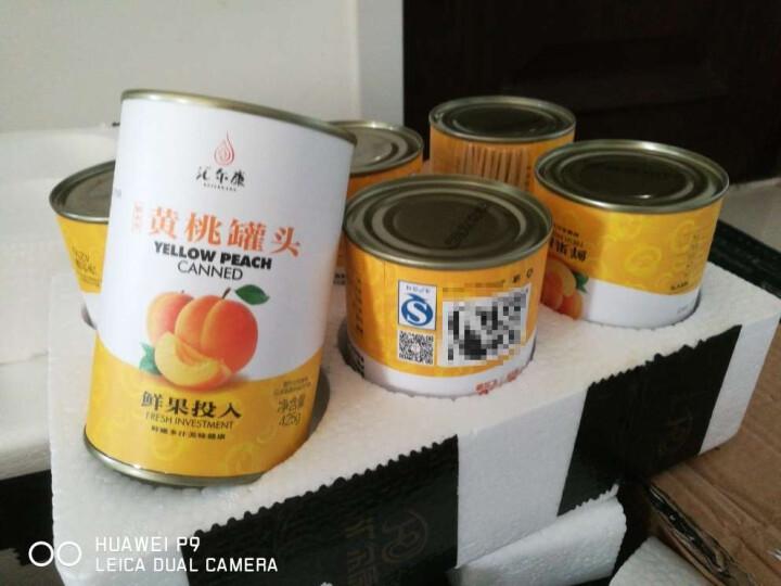 汇尔康 出口韩国黄桃罐头 新鲜水果整箱批发12罐*425g美食休闲零食 包邮 晒单图