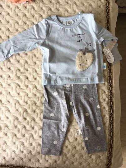 南极人婴儿空气棉马甲儿童夹棉背心宝宝春秋款保暖衣服外出款 提花小熊-浅粉 80CM 晒单图
