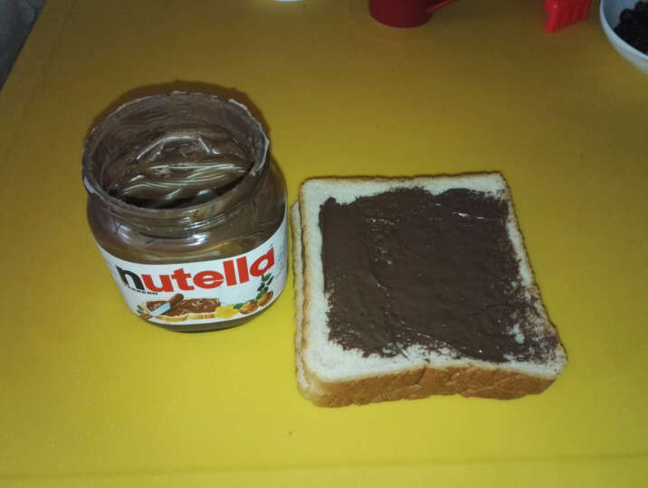 波兰原装进口费列罗能多益Nutella榛果可可巧克力酱早餐面包涂抹酱烘焙曲奇原料冰淇淋伴侣 350克玻璃瓶装(保质期到17年12月) 晒单图