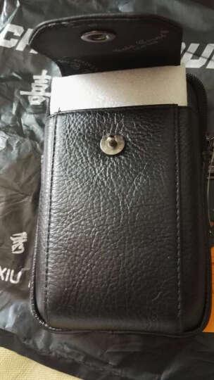 金珊瑚牛皮腰包男三星5寸5.3寸5.5寸5.7寸大屏男士手机包穿皮带竖款腰包手机套3839 咖啡色小号 晒单图