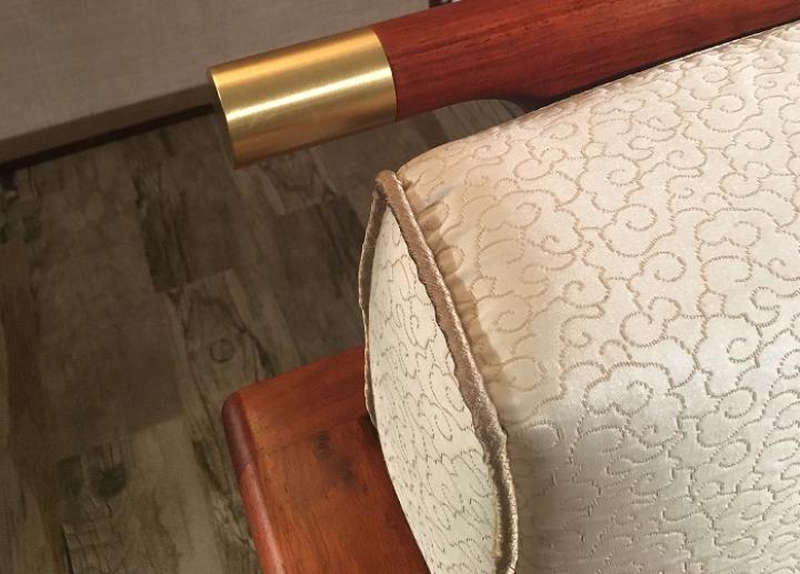 【暖冬特惠】善匠良品 红木家具非洲花梨(学名:刺猬紫檀)实木沙发 新中式传承沙发 别墅厅家具组合 茶几 晒单图