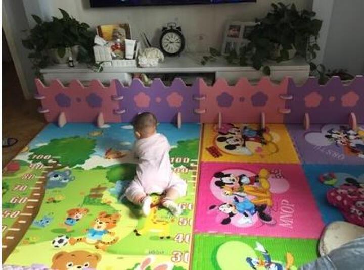 曼龙xpe进口材质宝宝爬行垫加厚2cm爬行毯双面图案婴儿童爬爬垫环保泡沫垫宝宝爬行地垫子 森林大象+快乐小鸟180*300*2cm(双包 晒单图
