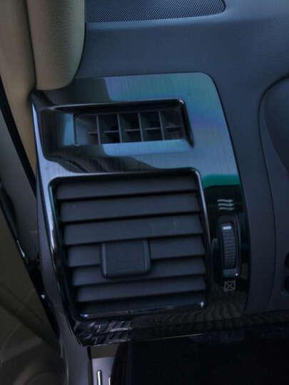 拓玛仕 丰田普拉多改装 出风口装饰条霸道专用前排空调风口内饰亮片框改装配件 黑钛款 一对装 晒单图