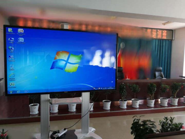 NB CF100 (60-100英寸) 液晶电视移动推车视频会议移动落地支架激光电视架显示器触摸屏一体机挂架 白色 晒单图