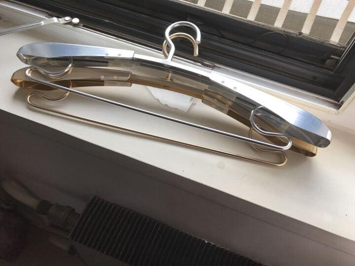 艾尚居宽铝衣架伸缩无痕防滑铝合金衣架 顺丰包邮 银色欧式衣架 1个 晒单图