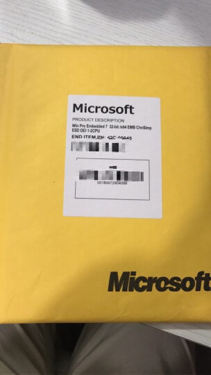 微软(Microsoft) 原装正版win7系统盘/windows7中文/英文专业版 简包coem 英文版64位含发票 晒单图