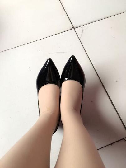 歌山品悦    春季新款高跟鞋时尚尖头细跟性感单鞋女中跟工作鞋 黑色 35 晒单图