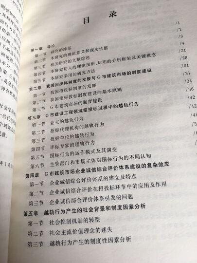 中国建设工程招标投标中越轨行为的阐释与分析/社会学研究文库 晒单图