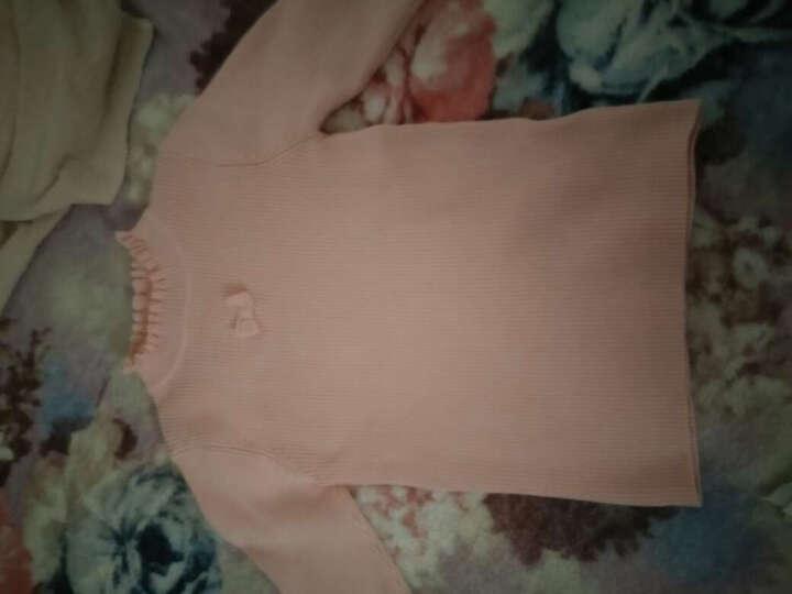 巴拉巴拉童装女童毛衣小童宝宝上衣冬装新款儿童针织衫女 本白 90 晒单图