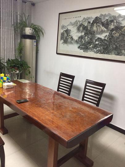框广(frame art) 实木大板桌办公桌家具 奥坎巴花鸡翅原木大板茶桌餐桌老板会议桌 巴花 2.0m 晒单图