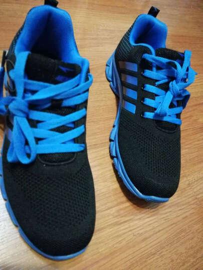 美克MEIKE跑步鞋飞织透气男士运动鞋刀锋战士底轻便透气休闲男鞋 深蓝桔8025 42 晒单图