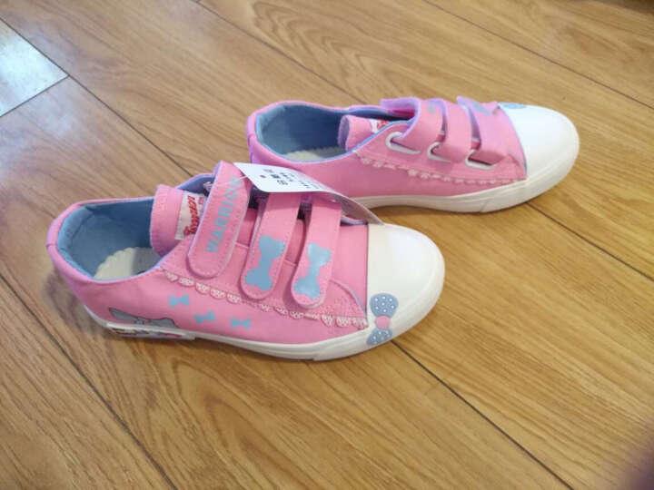 回力童鞋女童帆布鞋儿童透气布鞋子公主低帮休闲鞋新款蝴蝶结板鞋 深蓝色 28码/190/内长约18cm 晒单图