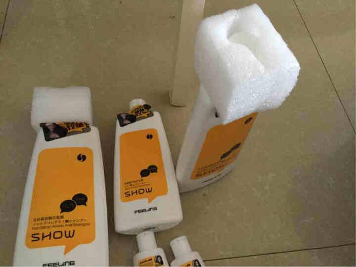 菲灵(FEELING) 洗护套装 无硅氨基酸洗发露 洗发水强韧丰盈柔软顺滑 免洗护发素200ml 晒单图