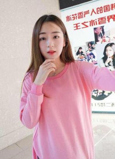 洛凌 孕妇装孕妇连衣裙韩版中长款套装2018夏季两件套裙子 8503黑色套装 125-145选择XL 晒单图