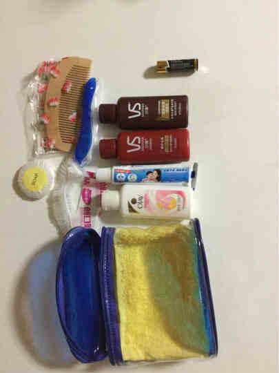 旅行洗漱套装便携学生旅游洗护用品分装瓶小样洗发水沐浴露洗漱包 潘婷桃木梳10件套 套餐3 晒单图