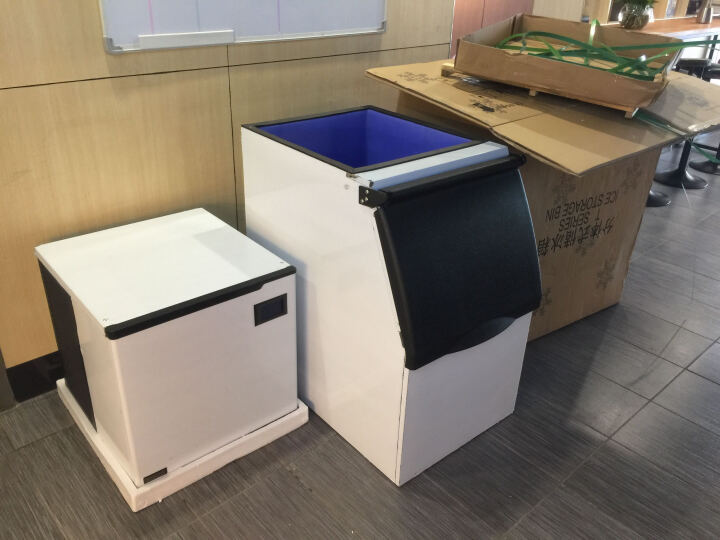 乐创(lecon) 商用制冰机 奶茶店设备全套大容量方块冰块机冰箱自动酒吧KTV 200KG制冰机 晒单图