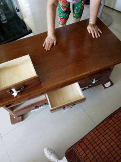 玖美茶几实木茶几桌沙发边几小户型客厅茶桌简约现代小茶几 咖啡色大号1.2m 晒单图