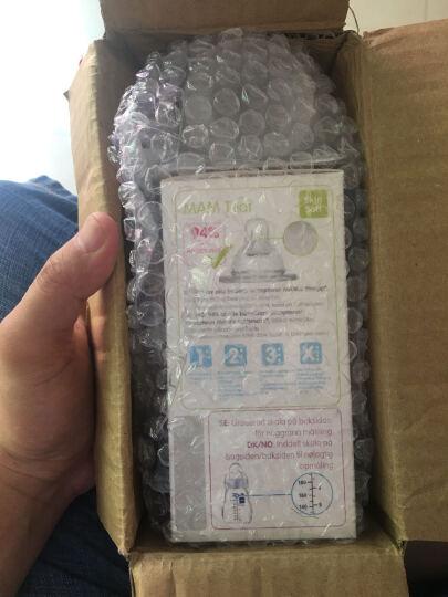 瑞士原装 MAM防胀气丝感硅胶宽口径奶嘴 2段圆孔 双只装 2-4个月 晒单图